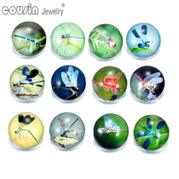 $enCountryForm.capitalKeyWord NZ - 12pcs lot Mixed Colors Dragonfly 18mm snap button Jewelry Faceted glass Snap Fit snap Bracelet Jewelry KZ0133