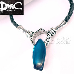 Discount devils women costumes - Wholesale-Devil May Cry 5 Dante and Vergil Necklace for Woman and Man Artificial Crystal Pendant Game DMC 5 cosplay Acce