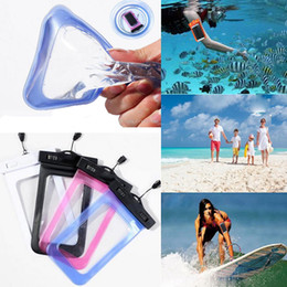 water proof phones Canada - Universal for iphone 7 6 6s plus samsung note 7 S7 Waterproof Case bag Cell Phone Water proof Dry Bag for smartphone up to 5.8 inch diagonal