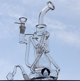 $enCountryForm.capitalKeyWord NZ - liquidglassarts newest double Recycler pyrex water pipe glass bong have glass diffusion Can be placed Silicone Wax Oil Container 14mm joint