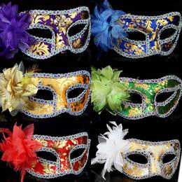 $enCountryForm.capitalKeyWord Australia - Women Flower Masquerade Masks 7 Colors Ladies Half Face Halloween Masks Valentine's Day Bar Colleagues Party Activity Dance Face Masks