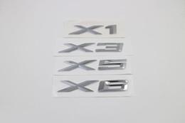 Car Logos For Decorations Canada - Free Shipping 10PCS 3D Chromium car Styling X3 Logo Emblem Badge Sticker Decoration For BMW X1 X3 X5 X6 E83 F25 Accessories