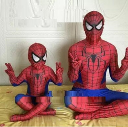Costume Cosplay Héroïne Pas Cher-Le nouveau Spiderman surprenant costume 3D Print Halloween Spiderman Hero Zentai Cosplay Costume spiderman costume pour les enfants et les adultes