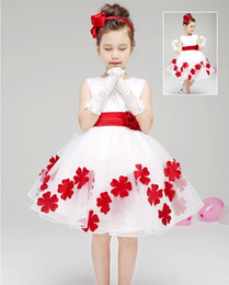 $enCountryForm.capitalKeyWord Canada - Bow Flower Girl Dresses 2016 For Weddings Bow Sleeveless Taffeta Flowers Scoop Neck Custom Made Pageant Gowns Custom Party Dresses For Girls