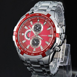 Watch steel japan movt online shopping - 2017 New model Famous designer MEN Stylish Curren Japan Movt Steel Wrist Watch new dive Stainless Watch Sport style military Mens watches