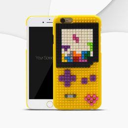 $enCountryForm.capitalKeyWord Canada - For Galaxy S7 edge iPhone 6 6S Case DIY 3D Building Blocks Case for iPhone 6 6s Plus Building Blocks Case Fashion Hard Phone Cases Free Ship