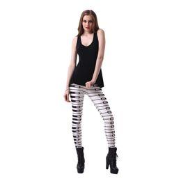 73ccf1b8d2dab Free shipping fashion women's music notes leggings pants piano keyboard  music notes printed elastic body building Girl sexy Leggings pants