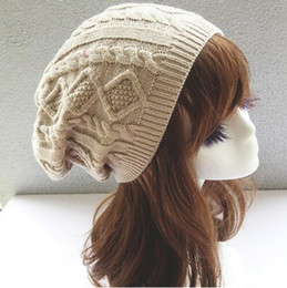free knitted hat patterns for women NZ - Womens Fall Fashion Hats Twist Pattern Beanies Winter Gorros for Female Knitted Warm Skullies Touca Chapeu Feminino HJIA773
