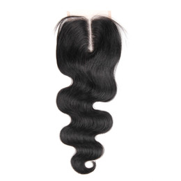 Discount three way part closure weave - Top Silky Body Wave Closure Cheap 4x4 Free Middle Three Way Parting Swiss Lace Closure Piece Unprocessed Brazilian Remy