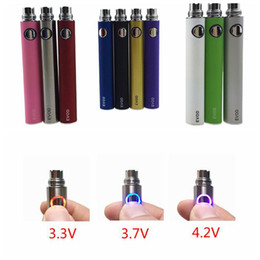 adjustable ego battery mt3 2019 - EVOD Variable Voltage battery 3.3V 3.7V 4.2V 650mAh 900mAh 1100mAh evod eGo ecig batteries for MT3 CE4 CE5 atomizer disc