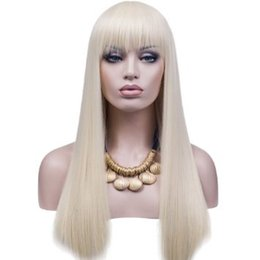 Human Hair Platinum Wigs Canada - Full Lace Wgis 100% Of Brazilian Human Hair wig Is Full Of My Shoelaces 60 # Platinum Is Manually Send Long Hair Humanr Sedosas Straight Wig