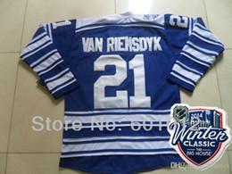 mens toronto hockey jerseys 21 james van riemsdyk blue authentic stitched jersey 2014 autographed maple leafs 81 phil kessel blue 2014 winter classic