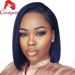 $enCountryForm.capitalKeyWord Canada - Peruvian Short Bob Virgin Human Hair Full Lace Wig Glueless Silky Straight Lace Front Wigs With Natural Hairline Left Part 130Density
