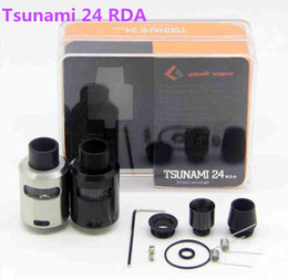 tsunami atomizer NZ - New Arrival Tsunami 24 RDA Glass Window Atomizer with Adjustable Airflow Various Drip Tip Electronic Cigarettes