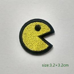 Toptan satış Pac man Oyunu Motif Demir HOTFIX Yama Üzerinde Aplike Nakış Karikatür Gömlek Çocuk Oyuncak Hediye bebek Bireysellik Süslemeleri