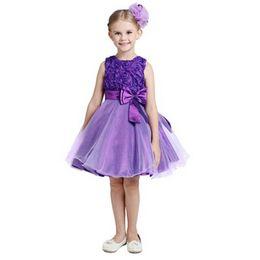 $enCountryForm.capitalKeyWord UK - Little Girls' Flower Formal Wedding Bridesmaid Party Dress Princess Dresses New Arrival Big Bow Tutu Skirts Flower Dress 9 Colors
