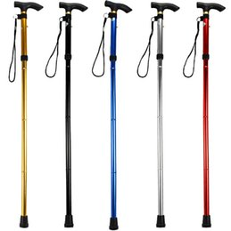 Wholesale Ultra light section Aluminum Alloy Adjustable Canes Outdoor Camping Hiking Walking Sticks