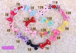 Dog Bands Canada - Christmas Party Dog Hair Clips Ribbon Bows Rubber Band Cat Puppy Hair Access Grooming Big Butterfly Xmas Halloween Cosplay Decor for Pets