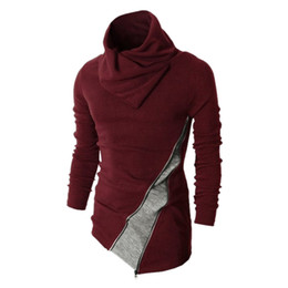 China Wholesale-Korean Style New Arrived Men Turtleneck Pullovers Sweater Fashion Men Outerwear Clothing Sweater Men ZQ38 cheap korean red clothes suppliers