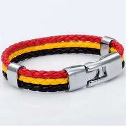 $enCountryForm.capitalKeyWord Canada - National Flags Bracelets Olympic Games World Cup Fans Braided Rope Charms Bracelets Unisex Pu Leather Bracelet For Brazil Argentina Flag