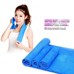 pva towel green Canada - 200PCS Color Magic Cold Towel Exercise Fitness Sweat Summer Ice Towel Outdoor Sports Ice Cool Towel PVA Hypothermia Cooling