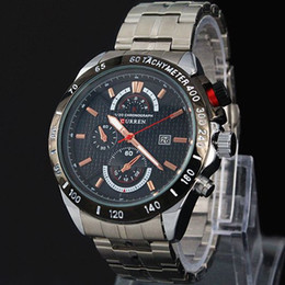 Discount watches for free - 2019 CURREN brand Men military watch Fashion Quartz Adjustable sports watches Fashion Steel Men Watch For Gift Free Ship