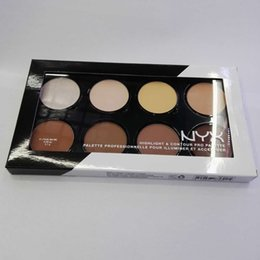Nyx coNtour palette online shopping - Cheapest NYX Highlight Contour Pro Palette Highlighters Powder Shadow Foundation Face Palette Makeup Brand Make Up Cosmetics DHL Free Ship