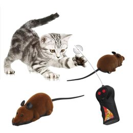 Mice Brands NZ - Brand NewScary Remote Control Simulation Plush Mouse Mice Kids Toys Gift for Cat Dog