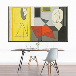 picasso abstract art NZ - ZZ843 modern decorative canvas art picasso the studio 1928 abstract canvas pictures oil art painting for livingroom bedroom wall