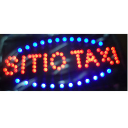 2016 direct selling customed low power 10X19 inch semi-outdoor Ultra Bright running sitio taxi led Neon open lighted Sign wholesale on Sale