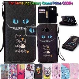 Samsung Grand Wallet Case Canada - Wallet Flip Leather Flower Skull Dreamcat Stand Case TPU Cover For Samsung Galaxy Grand Prime G530 S6 S7 Edge Note iPhone 5 SE 6 6S Plus