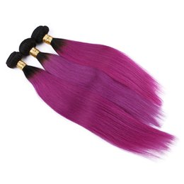 $enCountryForm.capitalKeyWord Canada - 1B Pink Ombre Brazilian Straight Hair Extensions 3Pcs Two Tone Brazilian Human Hair Ombre Straight Hair 3 Bundles Dhl Free