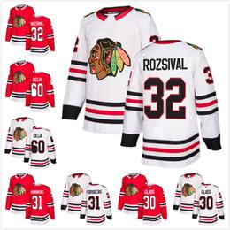 2018 Mens Chicago Blackhawks 32 Michal Rozsival 60 Collin Delia 31 Anton  Forsberg 30 Jeff Glass Hockey Jerseys Red White A C Patch c364513d6