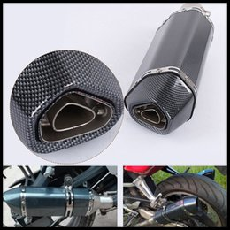 motorcycle pipes NZ - 38-51mm Universal Motorcycle Modified Scooter Exhaust Muffler Pipe Vent Pipe Akrapovic For GY6 CBR CBR125 CBR250 CB400 CB600 YZF FZ400 Z750