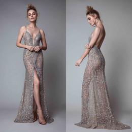 10e583338a8e2 Berta floor length online shopping - Berta Front Split Evening Dresses  Rhinestones Sleeveless Plunging Neckline Prom