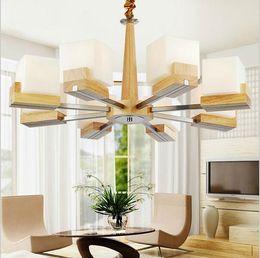 Hall oaks online shopping - New design Loft modern OAK pendant light for living room dining room lampadario moderno wood creative led pendant lighting