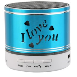 China Wholesale- 2017 New led Bluetooth Speaker Carve I Love You TF USB Wireless Portable For iphone with Mic Led Light S41 supplier new aluminum speakers suppliers