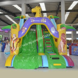 AOQI Commercial Use Cheap Price Amusement Park Inflatable Slide Giraffe  Inflatable Giant Slide For Sports Fun