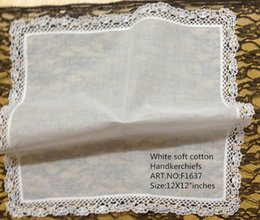 "$enCountryForm.capitalKeyWord Canada - HomeTextile Ladies Hamdkerchief Belgium style lace edges 12Pcs lot 12x12""white 100%cotton Wedding handkerchief Best Qualily for the bridal"