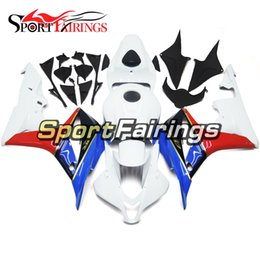 $enCountryForm.capitalKeyWord Canada - White Red Blue Motorcycle Complete Fairing Kit For Honda CBR600RR F5 07-08 Year 2007 2008 Plastic ABS Injection Cowlings Bodywork Customized