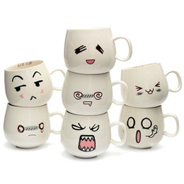 Brilliant Cute Cup Designs Design 7 Kinds White Pottery Ceramic Face Mug Tea Coffee Milk Inside Decorating