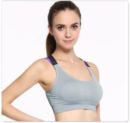 83b8351873 New sports cross beauty back bra women shockproof underwear without rims female  running yoga bra no46