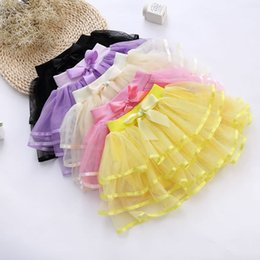 Fashion Tutus For Toddlers Canada - Hot Sale Girls Tutu Skorts Child Pettiskirt Children Dress For Big Kids 4Y-9Y Toddlers Ballet Skirt 3layers 2016 Summer New Style