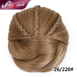 Chinese  Wholesale-1PC 50G Postiche Chignon Hairstyle Fake Hair Bun Pieces Braids Clip In Hair Bun Extensions Postiche Cheveux Chignon Wigood manufacturers
