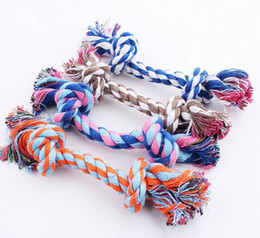 $enCountryForm.capitalKeyWord Canada - Pets dogs pet supplies Pet Dog Puppy Cotton Chew Knot Toy Durable Braided Bone Rope 16CM Funny Tool