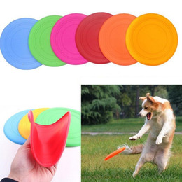 Silicone Toys Australia - new Silicone Dog Frisbee Flying Disc Tooth Resistant Soft Puppy Outdoor Pet Dog Play Foldable Training Fun Fetch Toy wn259