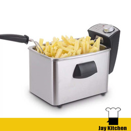 online shopping Electric deep fryer home stainless steel commercial potato chips fryer constant temperature single tank deep fryer basket no smoke