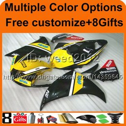 $enCountryForm.capitalKeyWord Canada - 23colors+8Gifts yellow BLACK panels motorcycle article for Yamaha YZF-R1 09 10 11 YZFR1 2009 2010 2011 ABS Plastic bodywork Fairings