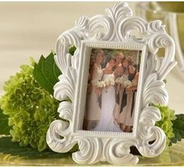 "photo place card holders Canada - wedding favor ""White Baroque"" Elegant Place Card Holder Photo Frame"