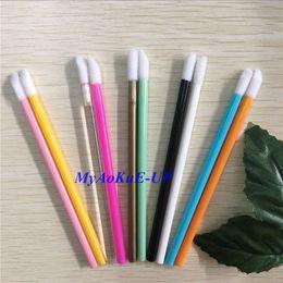$enCountryForm.capitalKeyWord Australia - 500 Pcs 10 Colors Lipstick Gloss Disposable Lip Brush Pen Wands Applicator Brush Professional Beauty Makeup Tools